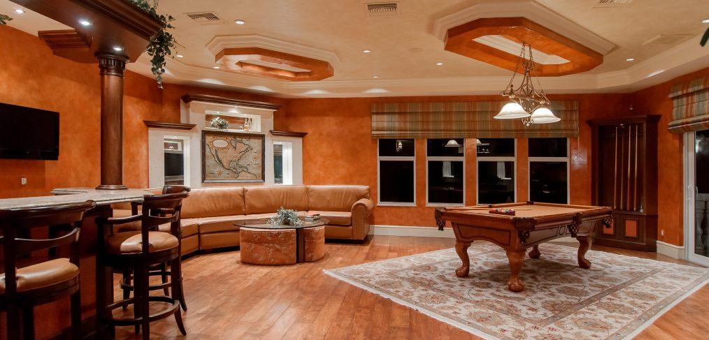 wood flooring in living area